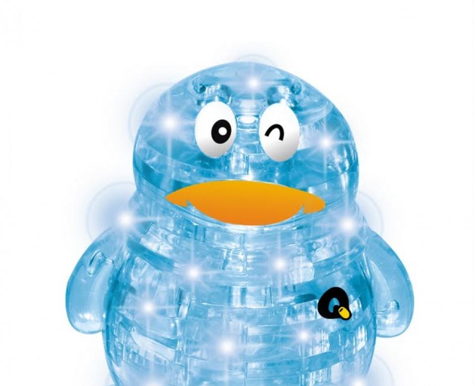 Пингвин со светом 3d пазл