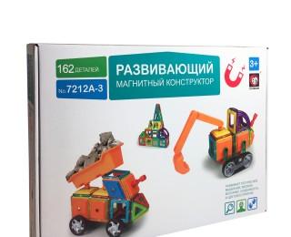 162 детали Магнитный конструктор Грузовик и Экскаватор Xinbida