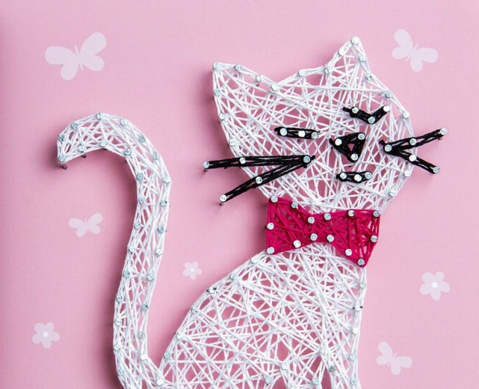 Набор для творчества Стринг Арт. Кошка П005