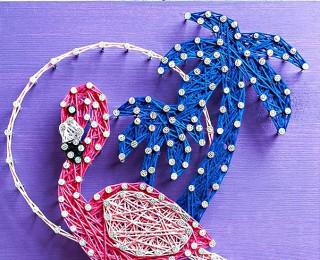 Набор для творчества Стринг Арт. Фламинго А4011